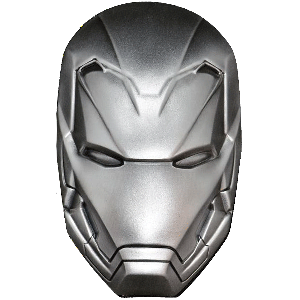 5 FJD Silbermünze Fiji - 'Iron Man' Maske - 2019 Antique finish