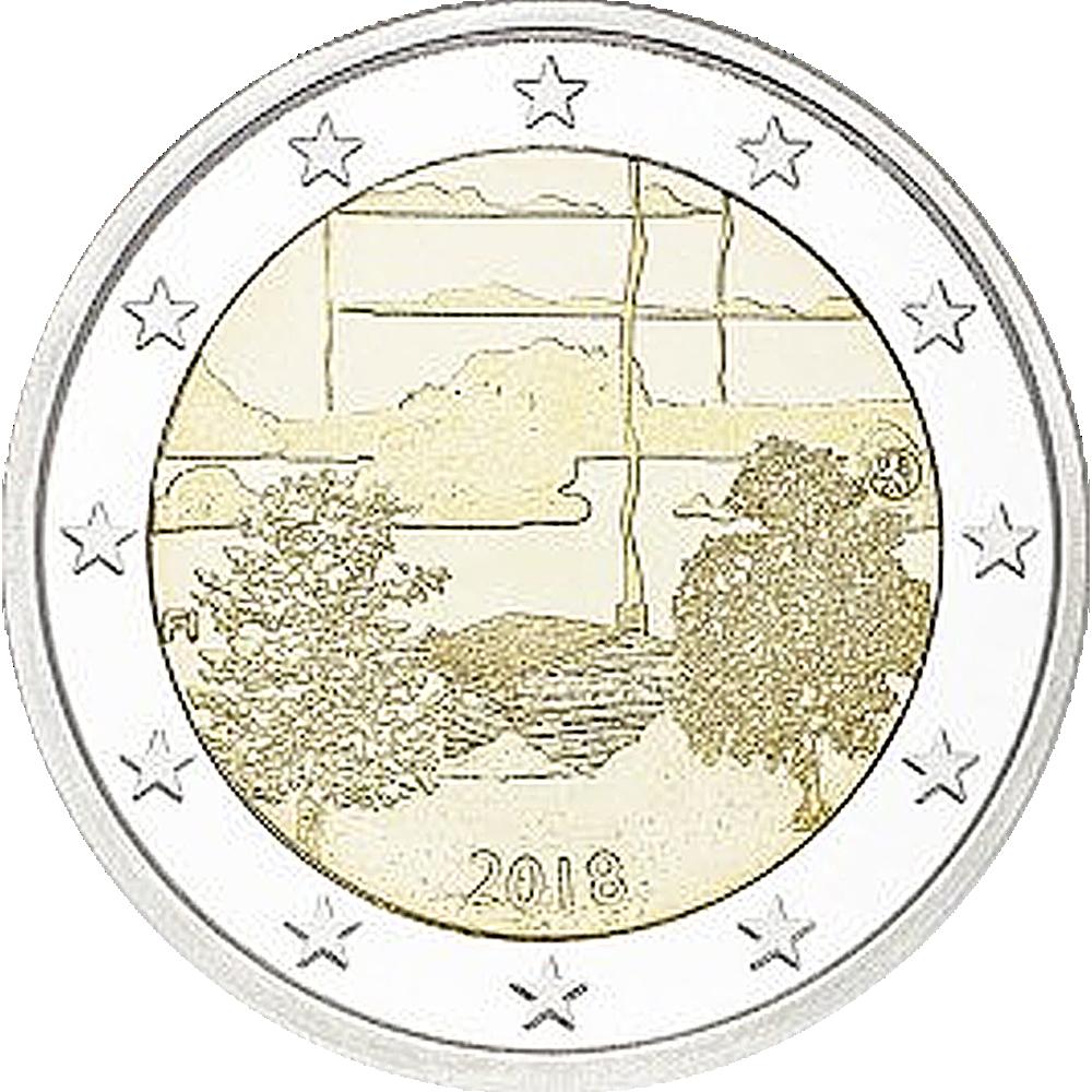 2 Euro Münze Finnland Finnische Saunakultur 2018 Bfr Münzen
