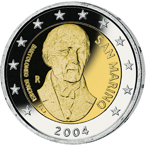 2 Euro Münze Bartolomeo Borghesi San Marino 2004 Münzen Günstigerde