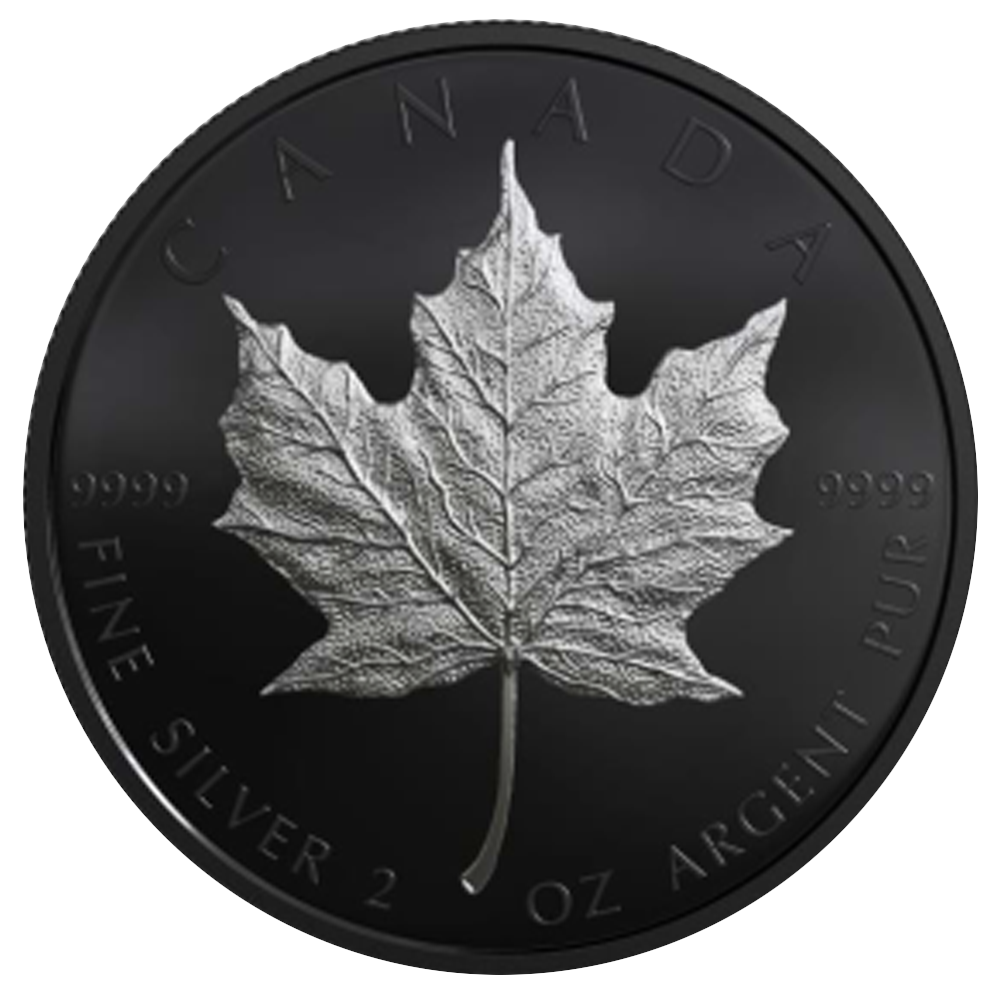 10 CAD Silbermünze Silver Maple Leaf (Limited Edition) 2019 Schwarz-Rhodium