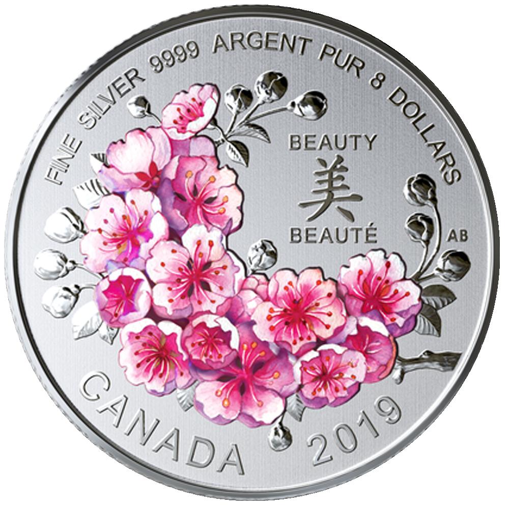 8 Cad Silbermünze Kanada Strahlende Kirschblüten Ein Geschenk Der