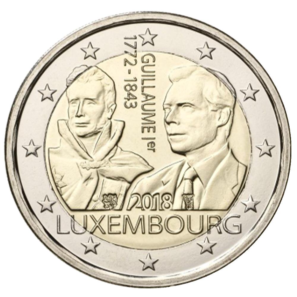2 Euro Münze Luxemburg 175 Todestag Von Großherzog Guillaume I
