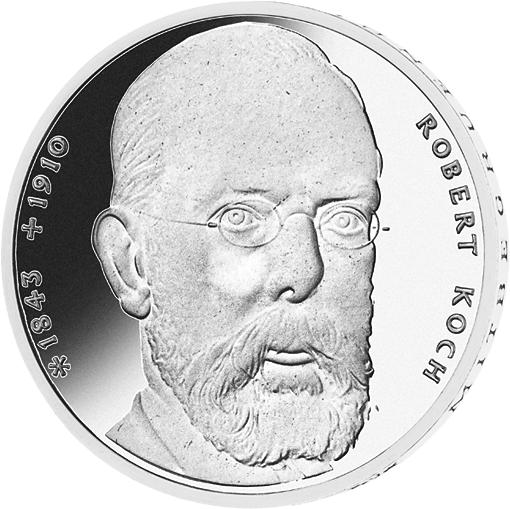 10 Dm Silber Münze Robert Koch 1993 10 Dm Münzen Dm Münzen