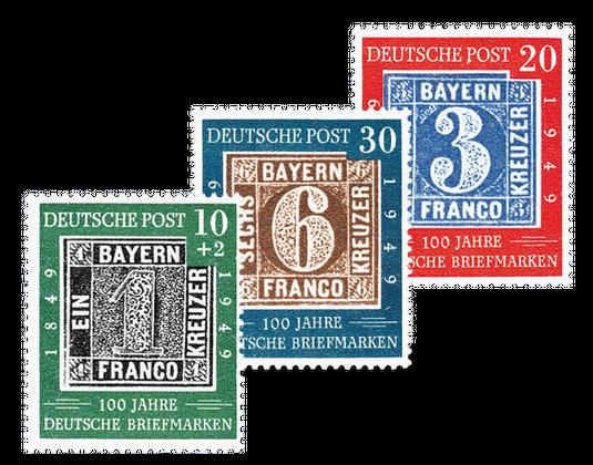 Sondermarken Satz 100 Jahre Deutsche Briefmarken Borekde