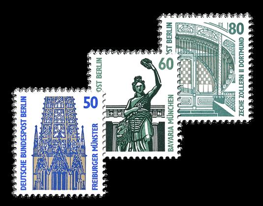 Briefmarkenserie Sehenswürdigkeiten Berlin 1987 Borekde