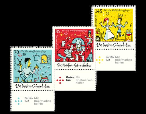 Firmen Weihnachtsgeschenke F303274r Kunden.Briefmarkenserie Fur Die Wohlfahrtspflege Das Tapfere Schneiderlein