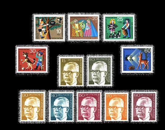 Briefmarken Jahrgangssatz Berlin 1972 In Postfrischer Erhaltung