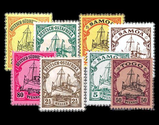 Briefmarken Deutsche Kolonien Auslandspostämter Borekde