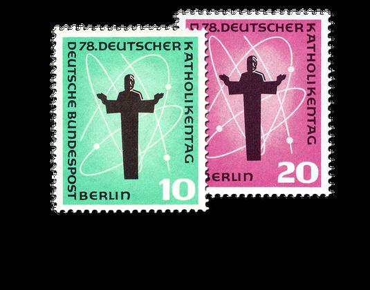 Briefmarken Zum 78 Deutscher Katholikentag In Berlin Mi Nr 179