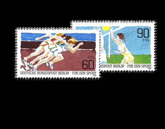 Briefmarken Berlin Zur Sporthilfe 1982 Mi Nr 664 665 Borekde