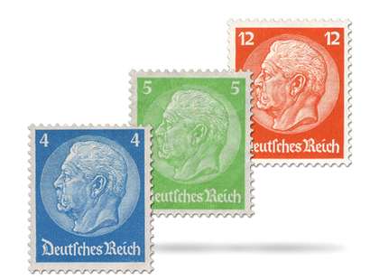 "Briefmarkensatz ""Paul von Hindenburg"""