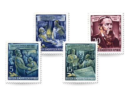 Briefmarken 60. Todestag Friedrich Engels
