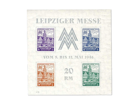 Briefmarkenblock West-Sachsen - Leipziger Messe