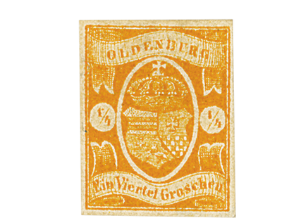 Briefmarke Oldenburg Staatswappen