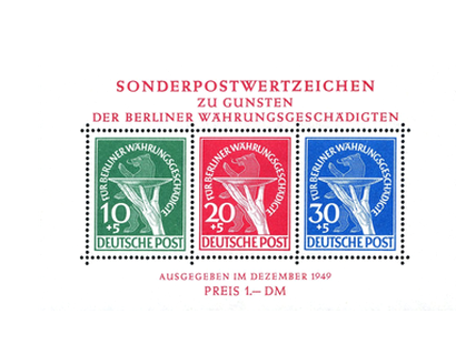 Briefmarkenblock Berlin