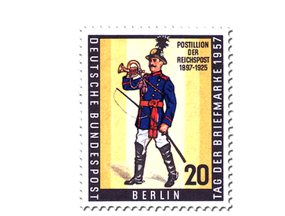 Briefmarke Tag der Briefmarke 1957 Berlin