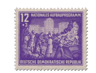 Briefmarken Nationales Aufbauprogramm Berlin