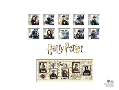 "Briefmarken ""Harry Potter - Limitierte Briefmarkenhalterung"""