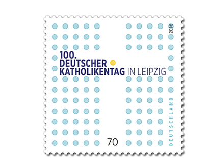 Briefmarke 100. Deutscher Katholikentag in Leipzig