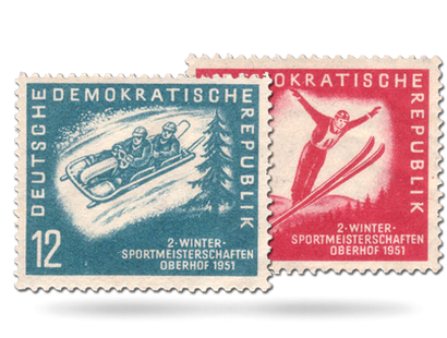 Briefmarken Wintersport-Meisterschaften in Oberhof