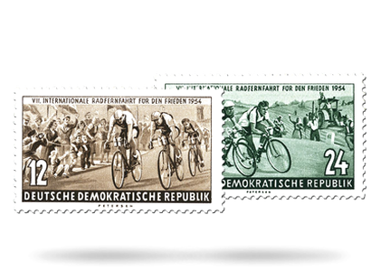 Briefmarken VII. internationale Radfernfahrt