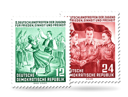 Briefmarken Jugendtreffen in Berlin