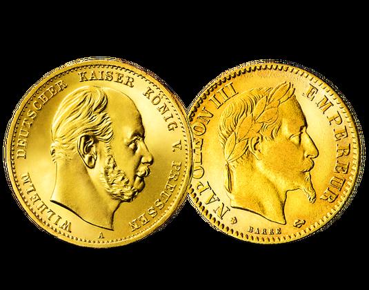 Goldmünzen Wilhelm I Napoleon Iii Mdm Deutsche Münze