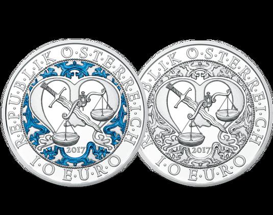 Silbermünzen österreich 2017 Michael Schutzengel Mdm Deutsche Münze
