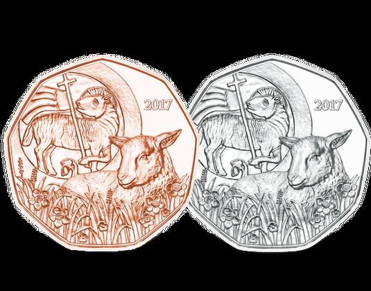 österreich 2017 5 Euro Münze Osterlamm Mdm Deutsche Münze