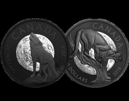 Kanada Silbermünzen Serie Nachtaktive Tiere Mdm Deutsche Münze