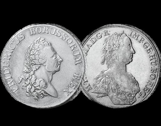 Silbermünzen Maria Theresia Und Friedrich Der Große Mdm Deutsche Münze