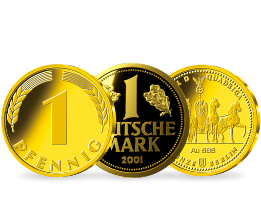 Set Gold Quadriga Goldmark 2018 Und Glückspfennig 2018 Mdm