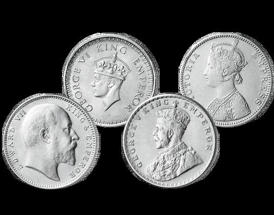 Silbermünzen Britische Könige Indische Kaiser Mdm Deutsche Münze
