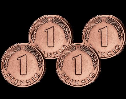 Die Erste Münze Der Brd 1 Pfennig Bank Deutscher Länder Komplett