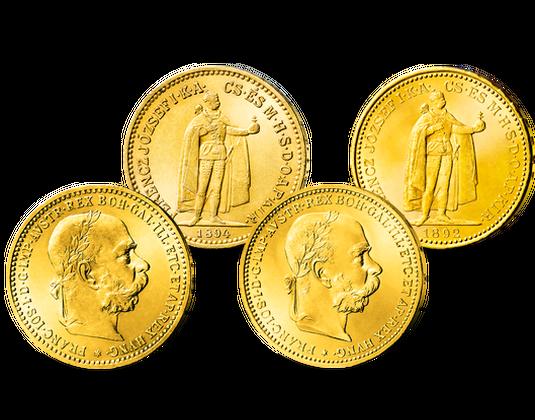 Der Premium Goldmünzen Satz Von Kaiser Franz Joseph I Imm Münz
