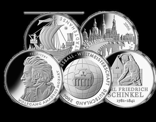 10 Euro Münzen Jahressatz 2006 Mdm Deutsche Münze
