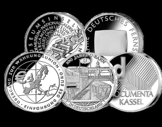 10 Euro Münzen Jahressatz 2002 Mdm Deutsche Münze