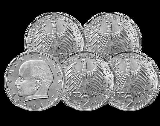 2 Dm Münze Max Planck 1957 Mdm Deutsche Münze