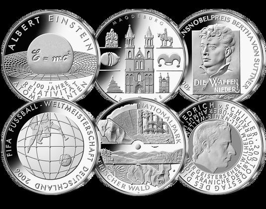 10 Euro Münzen Jahressatz 2005 Mdm Deutsche Münze