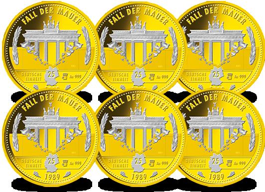 2 Dm Münzen Goldveredelt Mdm Deutsche Münze