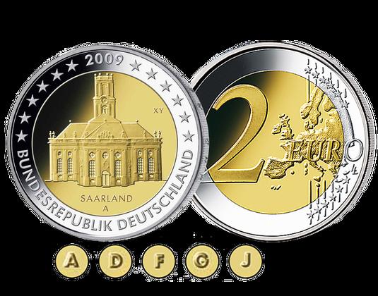 2 Euro Münze 2009 Saarland Mdm Deutsche Münze