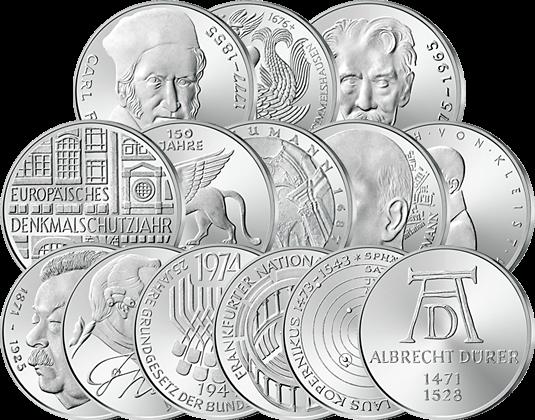 Letzte 5 Dm Silbermünzen Mdm Deutsche Münze