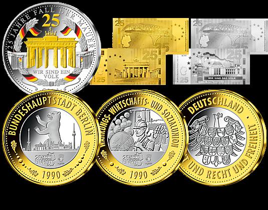 Exklusive Sammlerstücke 25 Jahre Deutsche Einheit Mdm Deutsche Münze