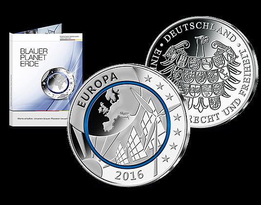 Deutsche Silber Ausgaben Blauer Planet Erde Mdm Deutsche Münze