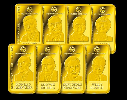 Kanzlerbarren Gold Mdm Deutsche Münze