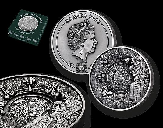 1 Kilo Silber Gedenkmünze Maya Kultur Mdm Deutsche Münze