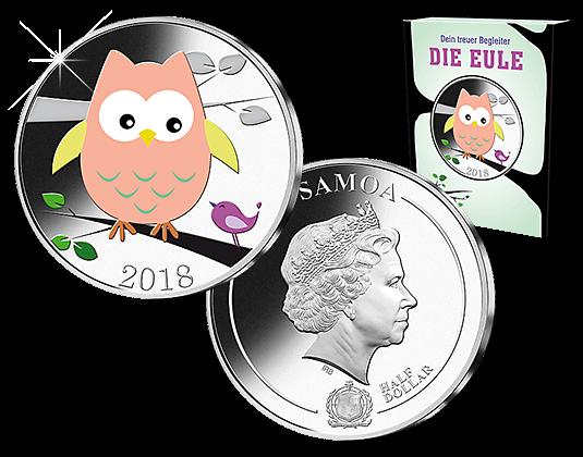 Samoa 2018 Gedenkmünze Eule Mdm Deutsche Münze