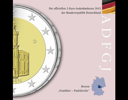 2 Euro Münze 2015 Hessen Mdm Deutsche Münze