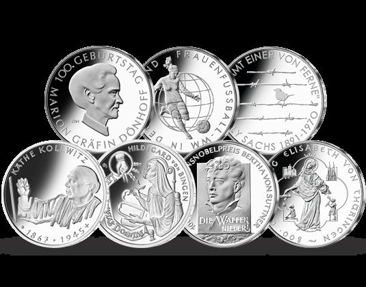 Die Einzigen Münzen Der Brd Die Starke Frauen Würdigen Mdm