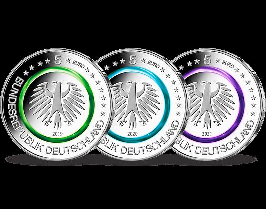 Reservierung Komplett Satz 5 Euro Münzen In Stempelglanz 2019 2021